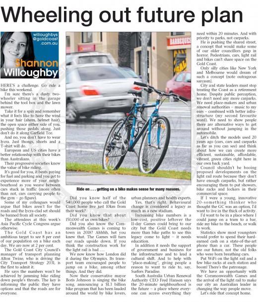 2013-03-14 Wheeling out future plan