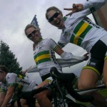 Australian Women Cycling Team World Cup Road Race, Sweden